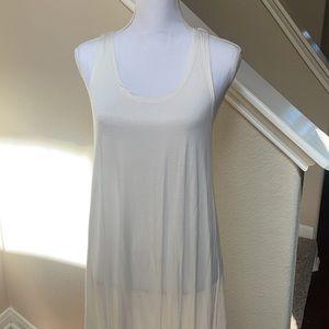 NWOT Moral Fiber Cream Embroidered Back Dress